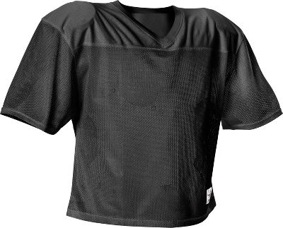 Alleson Athletic Youth Belt Length Football Jersey 705YBLKL/XL