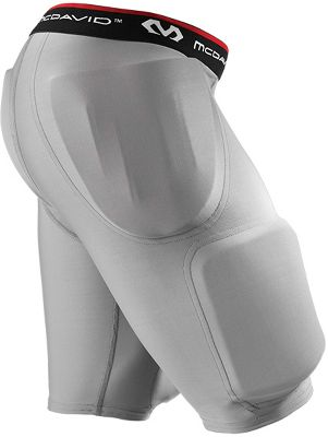 McDavid Adult Rival Girdle with Hard-Shell Thigh Guards 7414GRYXL