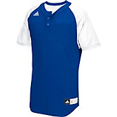 Adidas Mens Diamond King 2.0 2-Button Henley Baseball Jersey