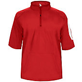 Badger Men's Sideline Short Sleeve 1/4 Zip Pullover