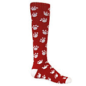 "Red Lion ""Happy Paws"" Print Women's Athletic Socks (Size 9-1"