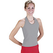 PIZZAZZ MVP HALTER TOP GREY 10U