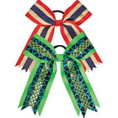 Powerbows Two-Layer Grosgrain Cheer Bow