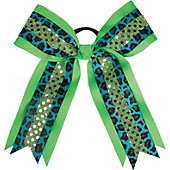 Powerbows Original Leopard Print Bow w/ Sequins