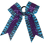 Powerbows Original Zebra Print Bow w/ Sequins