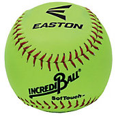 "Easton IncrediBall 11"" Neon Yellow Soft-Touch Training Softball (Dozen)"