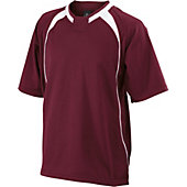 Easton Escape Short Sleeve Maroon Batting Jacket