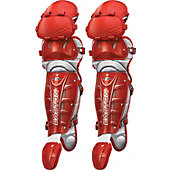 Easton Adult Stealth Speed Red/Sil Leg Guards