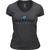 Easton Women's Linear Logo V-Neck T-Shirt