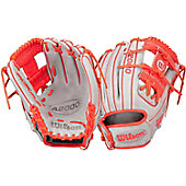 "Wilson A2000 Exclusive Gray/Red 1786 Series 11.5"" Baseball G"
