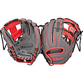 "Wilson A2000 Exclusive Gray/Red DP15 11.5"" Baseball Glove"
