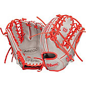 "Wilson A2000 Exclusive Gray/Red OTIF 11.5"" Baseball Glove"