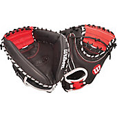 "Wilson A2000 Black/Red Pudge 32.5"" Baseball Catcher's Mitt"