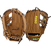"Wilson A450 Dustin Pedroia 10.75"" Youth Baseball Glove"