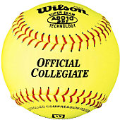 "Wilson 12"" D1-NCAA Yellow Fastpitch Softball (Dozen)"