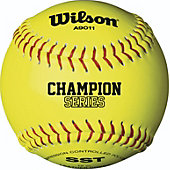 "Wilson 12"" NFHS Yellow Fastpitch Softball (Dozen)"