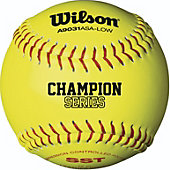"Wilson 12"" ASA 375 Comp. Yellow Fastpitch Softball (Dozen)"