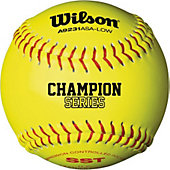 "Wilson 11"" ASA 375 Comp. Yellow Fastpitch Softball (Dozen)"
