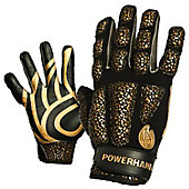 POWERHANDZ Youth Anti Grip Weighted Football Training Gloves