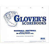 Glover's Scorebooks Baseball/Softball 50 Scoring Sheets (No