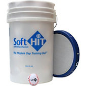 Soft HIT Bucket with White Training Baseballs (3 Dozen)