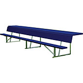 Diamond Sports Powder-Coated 15-Foot Player's Bench with Shelf