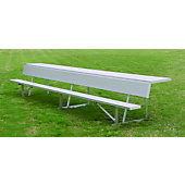Diamond Sports 27-Foot Aluminum Player's Bench with Shelf