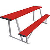 Diamond Sports Powder-Coated 7.5-Foot Scorer's Table with Bench