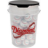 Diamond Empty Ball Bucket with Padded Lid