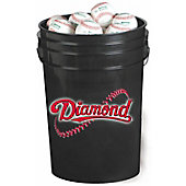 Diamond Black Bucket with DOLA Baseballs (30 Balls)