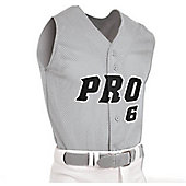 Champro Men's Mesh Full Button Sleeveless Baseball Jersey