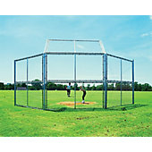 Diamond Sports 10-Foot Chain Link Backstop with Hood, No Wings