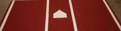 Trigon ProTurf Baseball 6x12 Clay Mat Batters Box   Softball