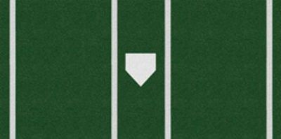 Trigon ProTurf Baseball 7x12 Green Mat Batters Box   Softball
