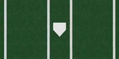 Trigon ProTurf Baseball 7x12 Green Mat Batters Box   Softball