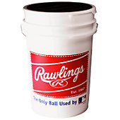Rawlings Bucket with R100HSX Baseballs (3 Dozen)