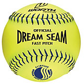 "Worth Pro Leather Official USSSA Dream Seam 11"" Fastpitch Softball (Dozen)"
