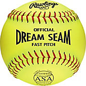 "Rawlings 11"" ASA Dream Seam Leather Fastpitch Softball (DZ)"