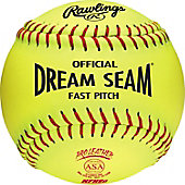 "Rawlings 12"" ASA Dream Seam Leather Fastpitch Softball (DZ)"