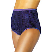 Alleson Athletics Women's Purple Sequin Cheer Briefs
