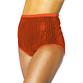Alleson Athletics Women's Scarlet Sequin Cheer Briefs