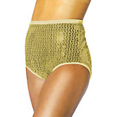 Alleson Athletics Youth Gold Sequin Cheer Briefs