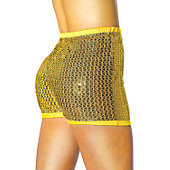 Alleson Athletic Women's Gold Sequin Boy Cut Brief