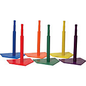 Champion Sports Deluxe 6-Color Batting Tee Set