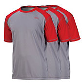 Rawlings Adult 3-Pack Raglan Short Sleeve Performance Shirt