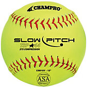 "Champro 12"" ASA .44 Cor Slowpitch Softball (Dozen)"