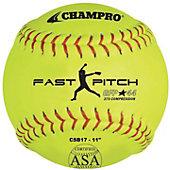 "Champro 11"" ASA .44 Cor Fastpitch Softball (Dozen)"