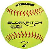 "Champro 12"" Recreational .44 Slowpitch Softball (Dozen)"