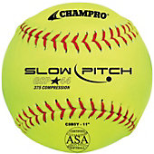 "Champro 11"" ASA .44 COR Slowpitch Softball (Dozen)"