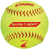 "Champro 11"" Safe-T-Soft Yellow Cover Softball (Dozen)"